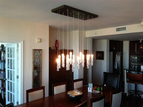 Twist Chandelier Contemporary Dining Room New York Modern Dining Room Chandelier