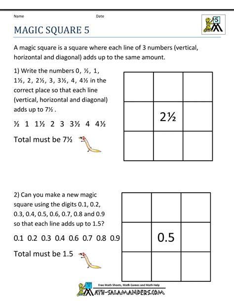 printable number logic puzzles printable math puzzles 5th grade