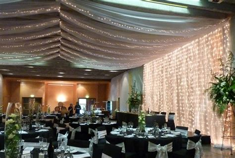 wedding ceiling drapery how to disguise a drop ceiling wedding curtain lights