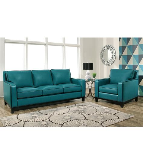 ashley furniture teal sofa teal leather living room set living room