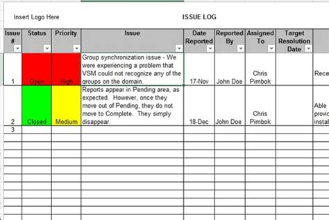 issue log excel template invitation template