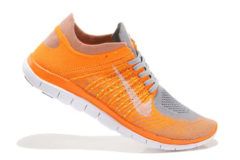 clearance nike shoes for clearance nike free 4 0 flyknit orange grey white