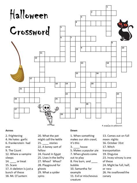 printable halloween puzzle games halloween crossword