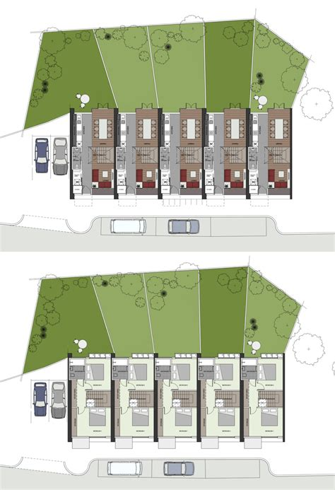 Flur Reihenhaus Gestalten by Sixtyk Sheppard Robson Terraced House Floor Plans Large