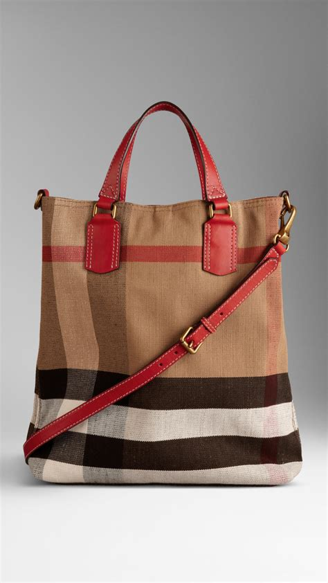 Tote Bag Canvas Murah 2 lyst burberry medium canvas check tote bag in brown