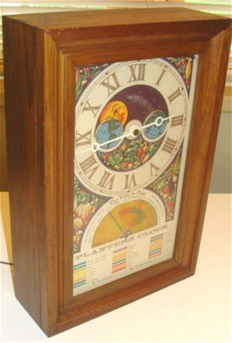 Planters Clock by Vintage Planters Moon Phases And Vintage On