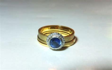 Wedding Ring Keeper by Sijs Blue Moon Sapphire Ring Singapore Island Jewellery
