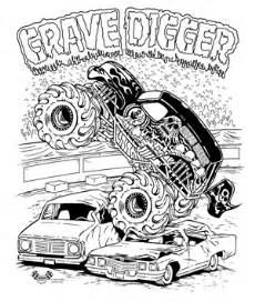 Go back gt pics for gt grave digger monster truck coloring pages