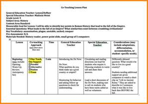 6 co teaching lesson plan template inventory count sheet