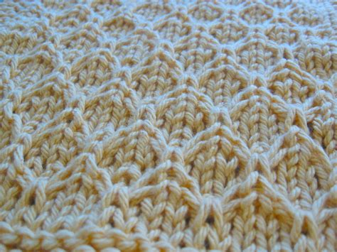 honey comb knit knitted honeycomb dishcloth 1 house in the suburbs