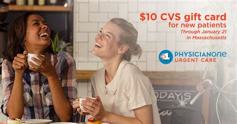 Cvs E Gift Card - physicianone urgent care announces 10 cvs gift card giveaway in massachusetts press
