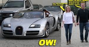 In His Bugatti Arnold Schwarzenegger Takes His Out For A Date In His