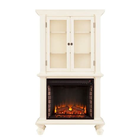 Southern Enterprises Townsend Electric Fireplace Bookcase Electric Fireplace With Bookshelves