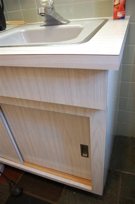 Laminate Bathroom Vanity by 1964 Time Capsule Gray Bathroom Retro Renovation