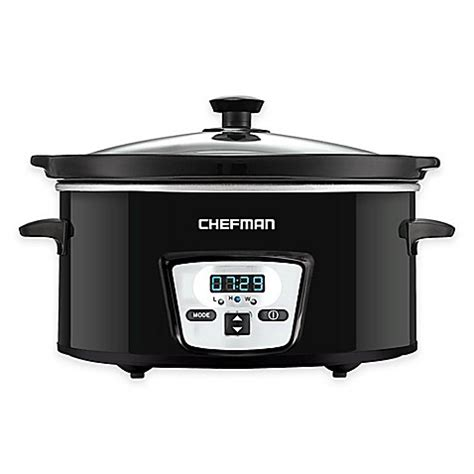 slow cooker bed bath and beyond chefman 5 qt oval slow cooker bed bath beyond