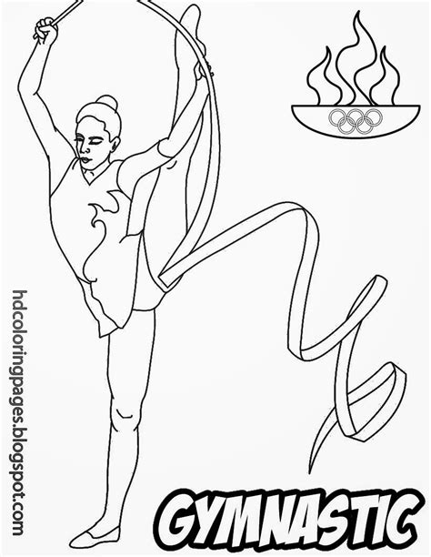olympic gymnastics coloring page coloring pages gymnastic sport activity