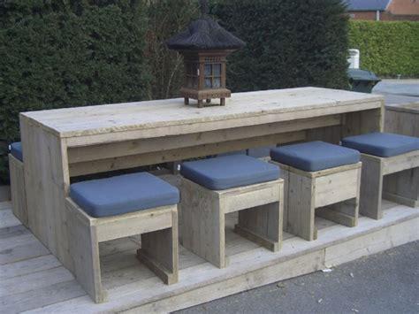 meuble de jardin bois bois d 233 chafaudage mobilier de jardin les nouveaut 233 s de l 233 t 233