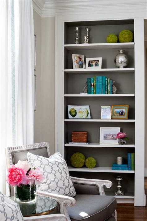 painting built in bookcases gray bookcase design ideas