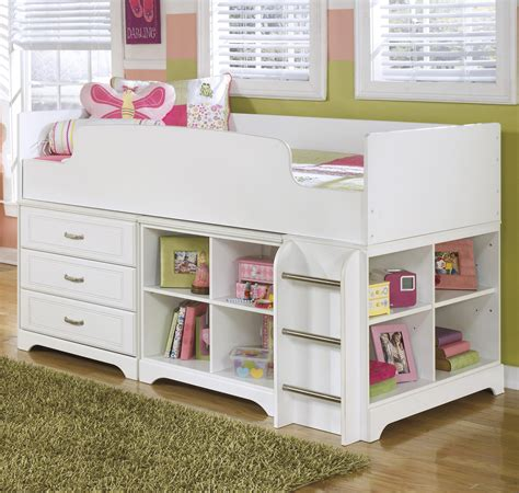 Lulu Bunk Bed Signature Design By Lulu Loft Bed W Loft Drawer Bin Storage Olinde S Furniture