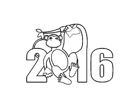 new year monkey colouring pages coloring for the new year 2016 monkeys and print