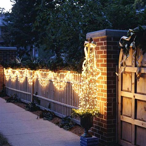 ideas for decorating iron fence posts for christmas top 46 outdoor lighting ideas illuminate the spirit amazing diy interior