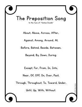 Preposition Song MP3 & Lyrics - Learn Grammar Parts of
