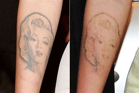 megan fox marilyn monroe tattoo removal