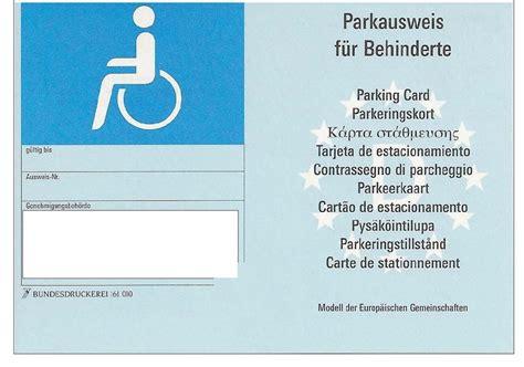 Kfz Versicherung Günstiger Mit Schwerbehindertenausweis by Parkplatz F 252 R Behinderte Wer Darf Wer Darf Nicht