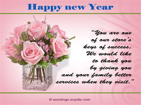 happy new year messages for customers wordings and messages