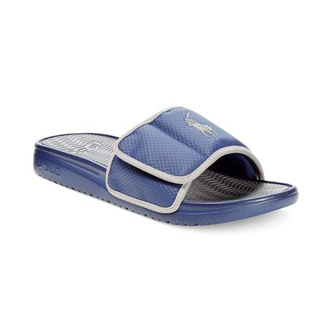 mens polo sandals polo ralph romsey sandals in blue for newport