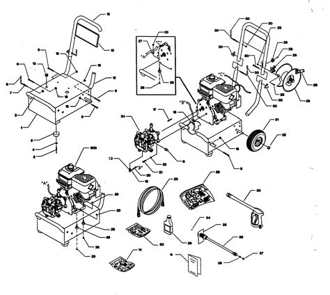 craftsman pressure washer parts diagram craftsman pressure washer parts model 580767302 sears