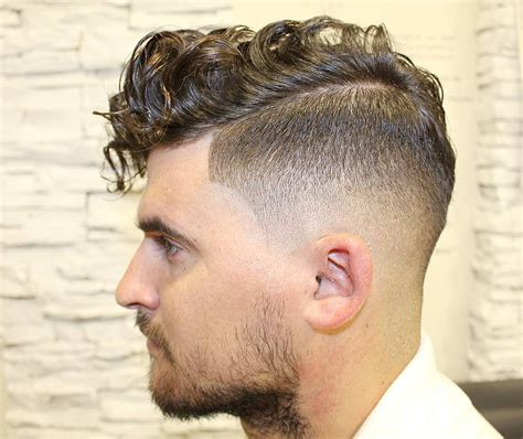 high top curly designs high top fade with curls and part hairstylegalleries com