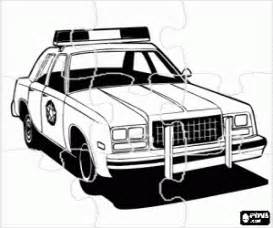 puzzle police car coloring printable game