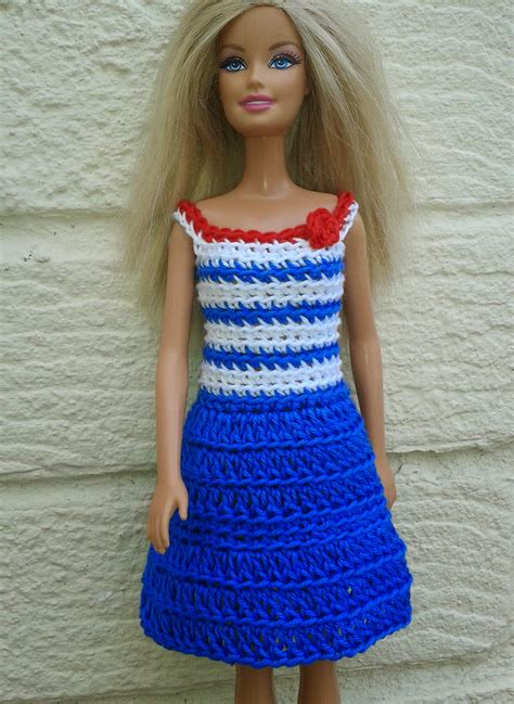 pattern barbie clothes linmary knits barbie crochet nautical dress