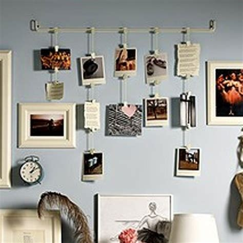 photo display clips hanging photo organizer rail with chains and 32 clips cream perfect for collage picture craft