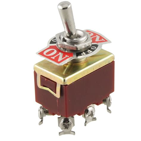 Auspicious Toggle Switch 1322a Return 6 Kaki On On on on 3 position dpdt 6 terminals toggle switch ac 250v 15a bt ebay