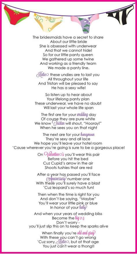 bridal shower poem ideas wedding shower poem