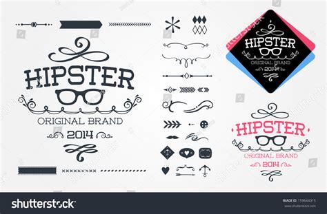 hipster design elements vector hipster design elements stock vector illustration