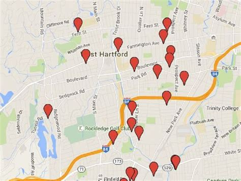 offender map west hartford homes to be aware of on