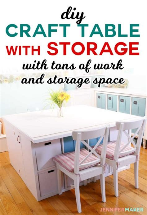 craft table with storage ikea diy craft table with storage my ikea hack maker