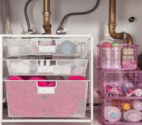 under bathroom sink storage ideas easy under the sink storage ideas