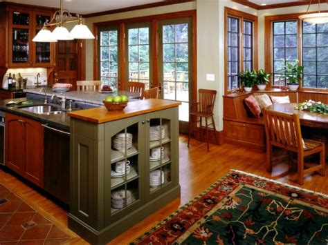mission style home decor arts and crafts kitchens hgtv