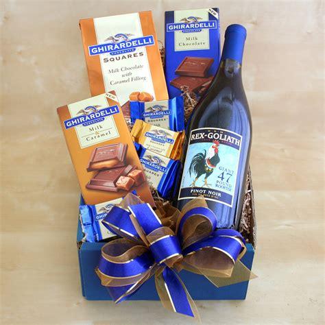 wine and chocolate gift baskets wine and chocolate for gift basket gift baskets by occasion at hayneedle