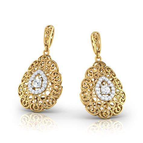 Nafisa Aqila S doreen trellis earrings jewellery india caratlane