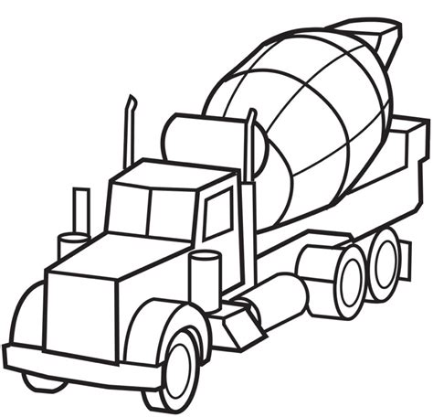 coloring pages cars and trucks for free cement truck coloring page coloring book