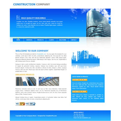 free website construction template 035 construction template
