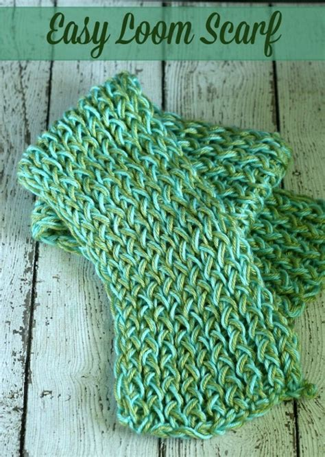 how to loom knit a scarf on loom 25 best ideas about loom knitting scarf on
