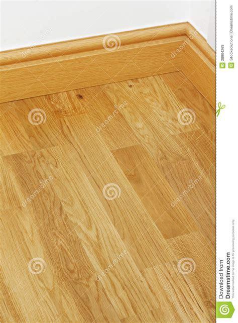 Vinyl Wooden Flooring Mdf Skirting Boards Stock Image