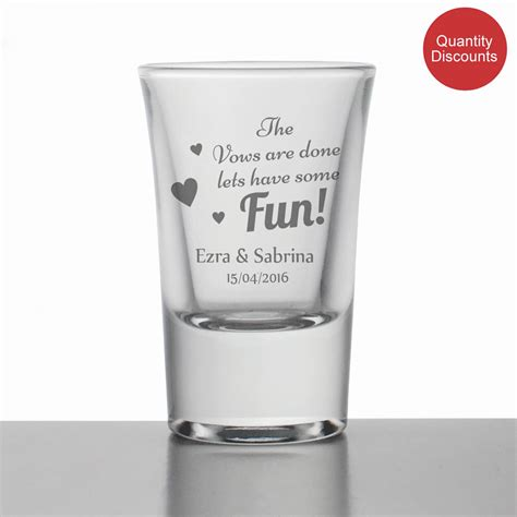 personalised wedding glasses personalised wedding favour gift the vows are done lets