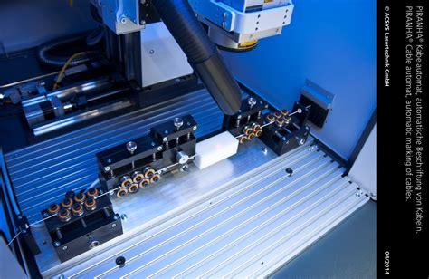 Beschriftung Leitungen by Piranha Kabelautomat Acsys Lasermaschinen